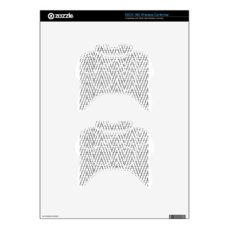 Abstract Wavy Indonesian Textile Xbox 360 Controller Skin