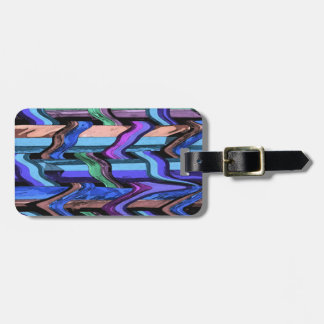 Abstract Wavy Weave Pattern Luggage Tag