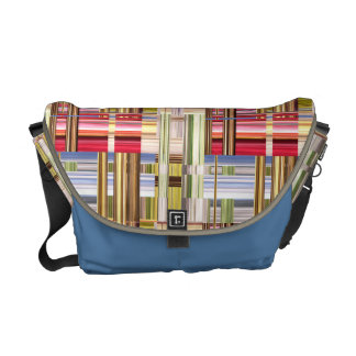 Abstract Weave of Colors Messenger Bag