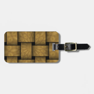 Abstract weave pattern bag tag
