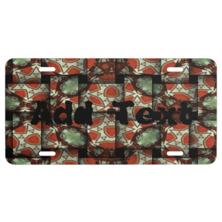 Abstract weave pattern license plate