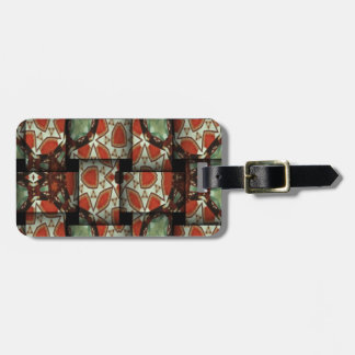 Abstract weave pattern luggage tag