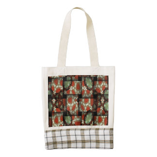 Abstract weave pattern zazzle HEART tote bag