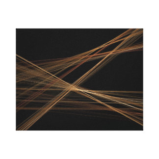 Abstract Weave Stretched Canvas Print