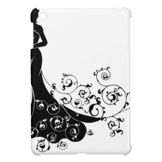 Abstract Wedding Bride Silhouette iPad Mini Covers