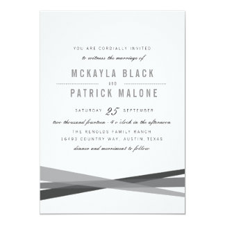 Abstract Wedding Invite