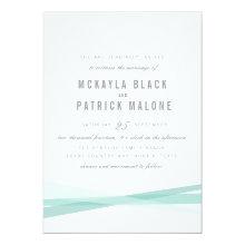 "Abstract Wedding Invite - Blue 5"" X 7"" Invitation Card"