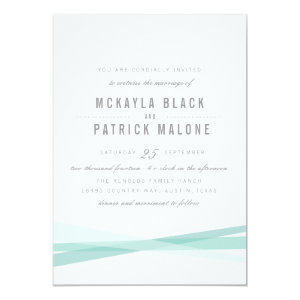 Abstract Wedding Invite - Blue 5
