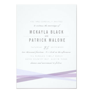 Abstract Wedding Invite - Purple