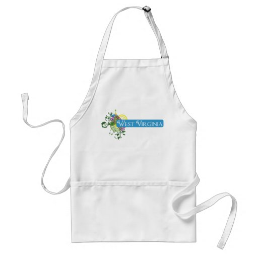 Abstract West Virginia Adult Apron