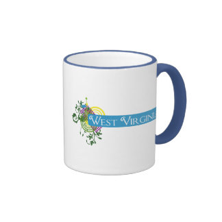 Abstract West Virginia Ringer Coffee Mug