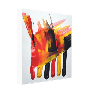 """Abstract (wet) acrylic painting """"Burn"""" Stretched Canvas Print"""