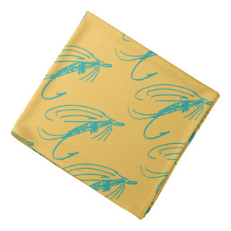 Abstract Wet Fly Lure Bandana