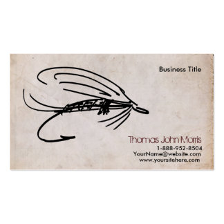 Abstract Wet Fly Lure Business Card