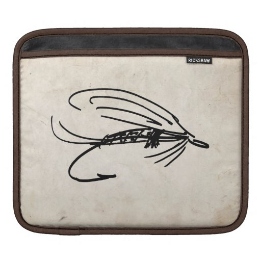 Abstract Wet Fly Lure iPad Sleeves