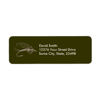 Abstract Wet Fly Lure Custom Return Address Labels