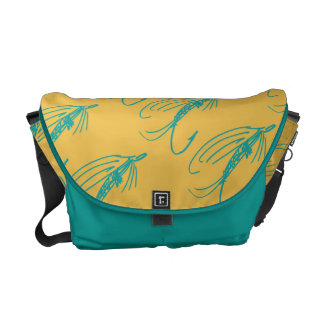 Abstract Wet Fly Lure Messenger Bag