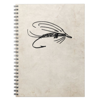 Abstract Wet Fly Lure Spiral Notebook
