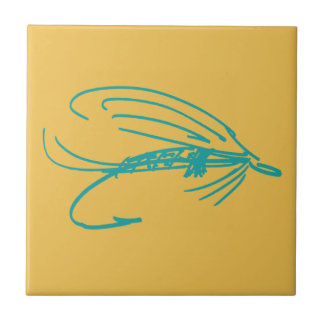 Abstract Wet Fly Lure Tile
