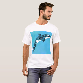 Abstract whale in seaglass T-Shirt
