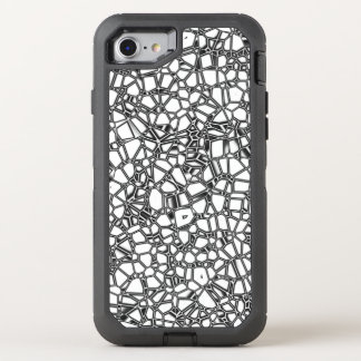 Abstract White Black Gothic Kryptonite OtterBox Defender iPhone 8/7 Case