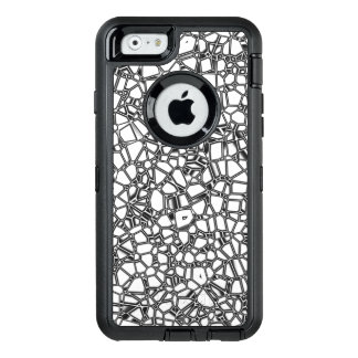 Abstract White Black Gothic Kryptonite OtterBox Defender iPhone Case