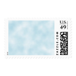 Abstract White Clouds in Pale Blue Sky Pattern Postage