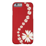 Abstract White Daisies on Red iPhone 6 case iPhone 6 Case