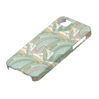abstract white lily art nouveau pattern art iPhone 5 cover