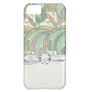 abstract white lily art nouveau pattern art iPhone 5C covers
