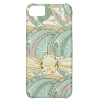 abstract white lily art nouveau pattern art case for iPhone 5C