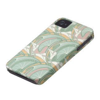 abstract white lily art nouveau pattern art Case-Mate iPhone 4 case