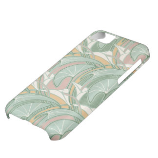 abstract white lily art nouveau pattern art iPhone 5C cases