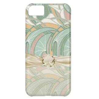 abstract white lily art nouveau pattern art iPhone 5C case