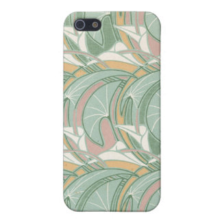 abstract white lily art nouveau pern art iPhone 5 cover