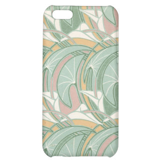 abstract white lily art nouveau pern art cover for iPhone 5C