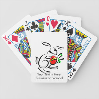 abstract white rabbit red egg hopping.png bicycle playing cards