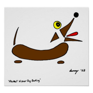 Abstract Wiener Dog Print