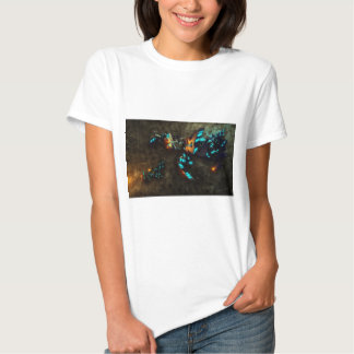 Abstract Wild and Crazy Scene Tee Shirt