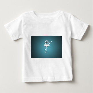 Abstract Wild Blue Design Baby T-Shirt