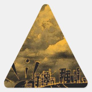Abstract Wild City Triangle Sticker