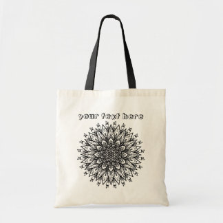 Abstract wild Flower Mandala Color Me Tote