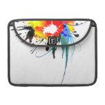 Abstract Wild Parrot Paint Splatters MacBook Pro Sleeves
