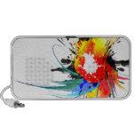 Abstract Wild Parrot Paint Splatters iPhone Speaker