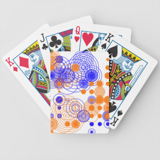 Abstract wild pattern bicycle playing cards