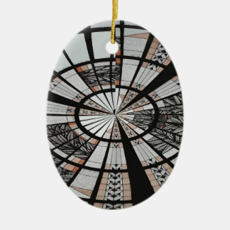 ABSTRACT WINDOW 3 CERAMIC ORNAMENT