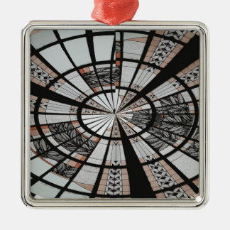 ABSTRACT WINDOW 3 METAL ORNAMENT