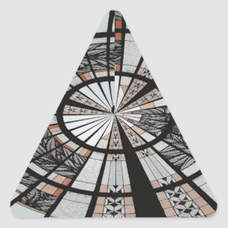 ABSTRACT WINDOW 3 TRIANGLE STICKER