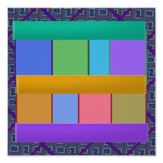 Abstract Windows Panels Smart Graphic Art Poster