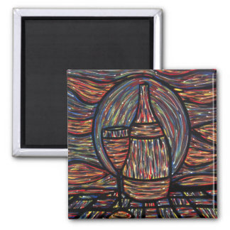 Abstract Wine Painting Magnet